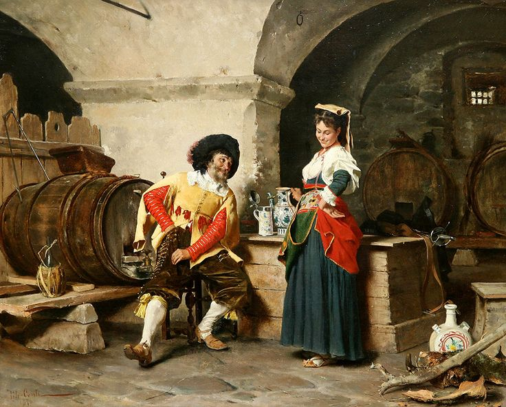 "Conti Tito - Serving Maid  (from <a href=""http://www.oldpainters.org/picture.php?/50492/category/16357""></a>)"