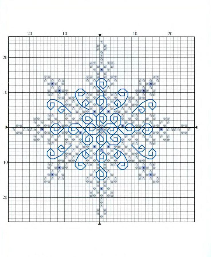 snowflake ornament cross stitch