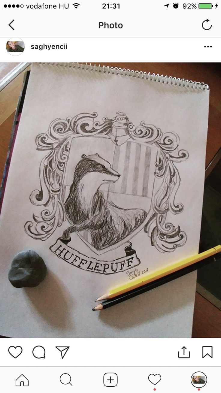 Hufflepuff crest from Harry Potter