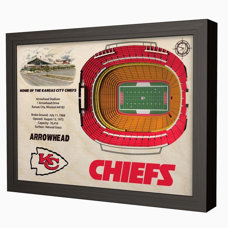 Kansas City Chiefs Arrowhead Stadium 3D View Wall Art