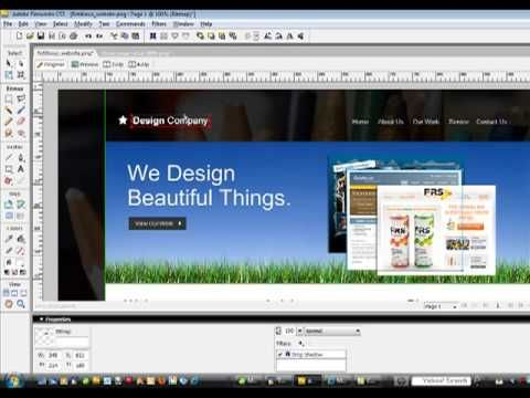 How To Take a Website From Mock-Up to HTML with Adobe Fireworks - YouTube