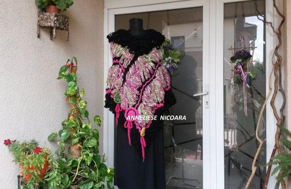Crochet Poncho/Women handcrocheted Poncho by AnnesMagicCrochet