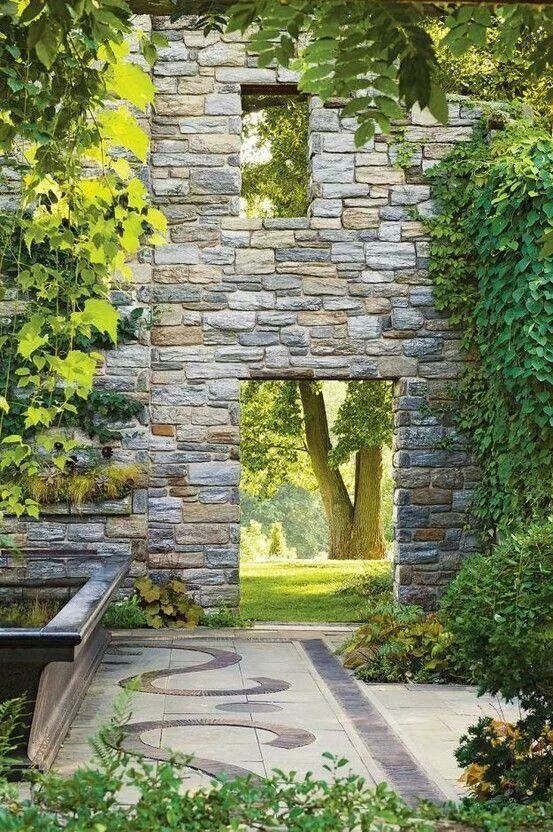 Stone wall to a secret