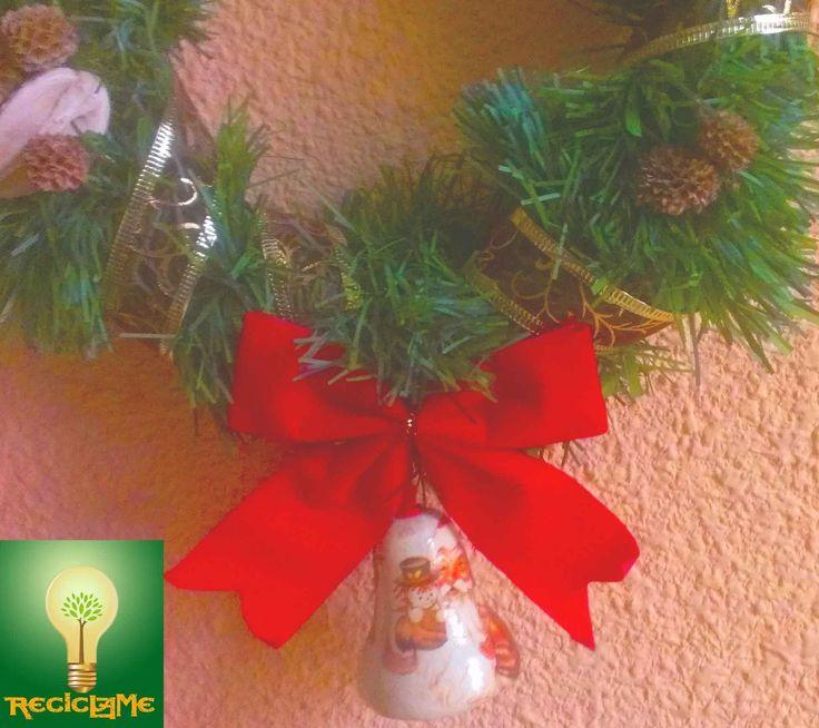Cómo hacer una corona de navidad Fácíl♣