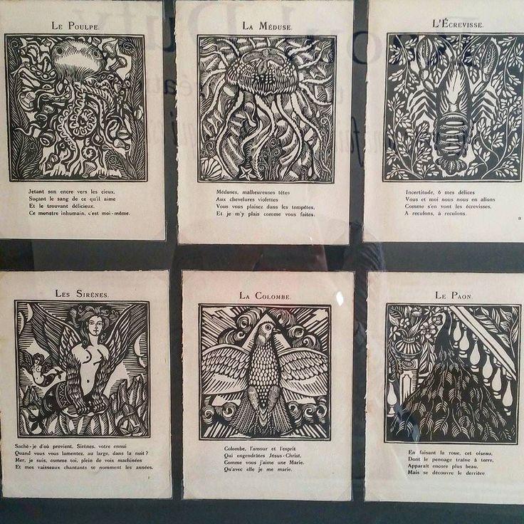 Détails de quelques gravures de Dufy pour le recueil d'Apollinaire
