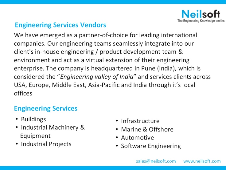 Engineering Services Vendors