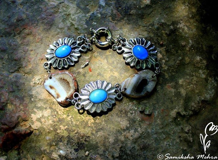 """""""Keep your face always towards the sunshine and the shadow will fall behind you.""""  #bracelet in #turquoise blue and marbelled #agates.  Product Code: PBR046 #Order here: http://bit.ly/buyPnkB"""