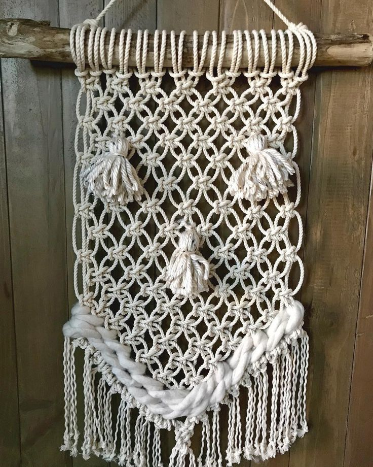 Smiling Macramé creation.