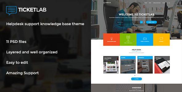 TICKETLAB - Helpdesk Support Knowledge Base Theme - Software Technology #webdesign #webdevelopment #design #web #website