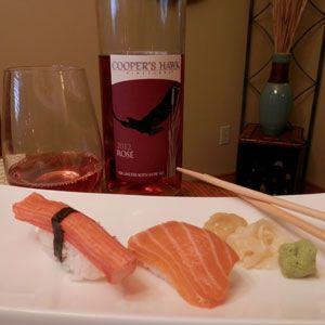 September 29, 2013 - Cooper's Hawk Vineyards 2012 Rose with Sushi. Wine & Dine! - See more at: http://www.essexcountywineries.ca/wines/2013/20130929.htm#sthash.O385oa9S.dpuf