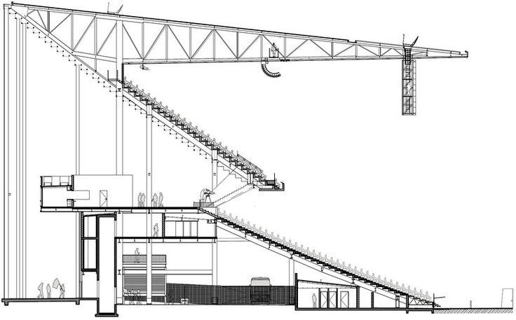 Herzog & de Meuron, BORDEAUX - Grand Stade (42,566) - EURO 2016 North end section