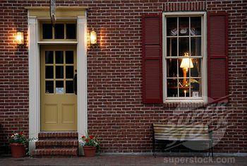 House Doorse Red Brick House Door Color