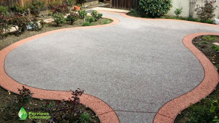 BAPC Classic and Polished #PerviousConcrete with color-stained border - Residential patio