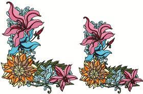Exotic Flowers Font - Letter L