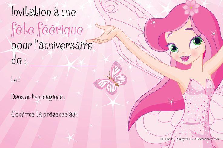 carte invitation anniversaire gratuite fille 8 ans