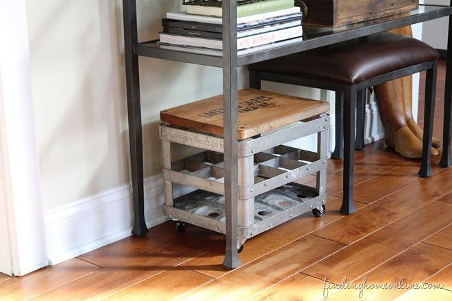 Junkers United – Repurposed Milk Crate Stool - Finding Home