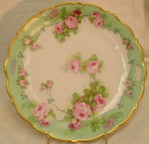 Hand Painted Limoges Plate Roses Gold Signed Pierre 9 1 2  & 124 best Plates and Bowls images on Pinterest | Dish sets Painted ...