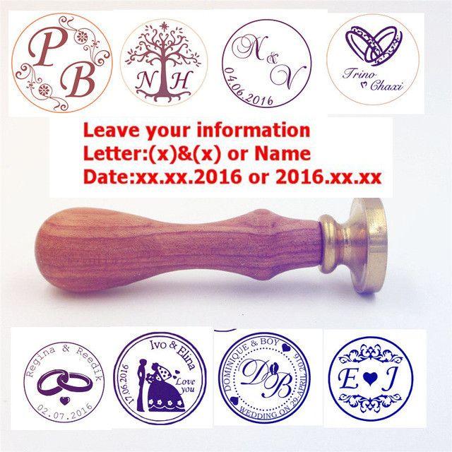 pas cher personnaliser sceau de cire timbre logo personnalis image personnalise dtanchit cire - Timbres Personnaliss Mariage