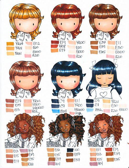 colorear cabello con copics