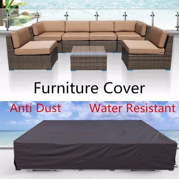 3 Sizes Black Outdoor Furniture Waterproof Dustproof Cover Patio