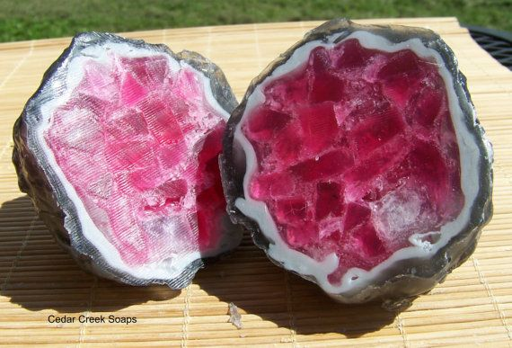 GEODE SOAP  Whole Geode Soap Rock Crystal by CedarCreekSoaps1, $15.75