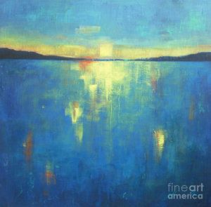 Painting - Ocean Sunset by Vesna Antic