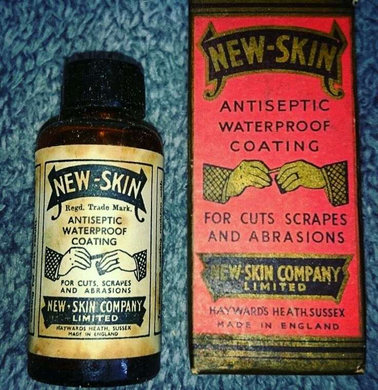 An antique medical curiosity, new-skin antiseptic waterproof coating, still in original box and with original contents