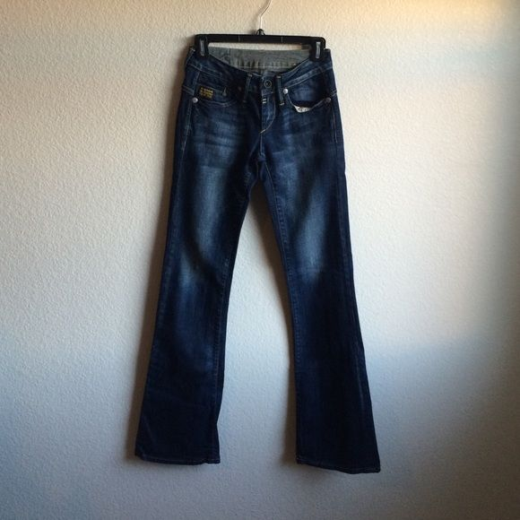 """G-Star women's jeans! G Star  Raw denim jeans. 26x34"""" Bootcut fit and super sexy on! G-Star Jeans Boot Cut"""