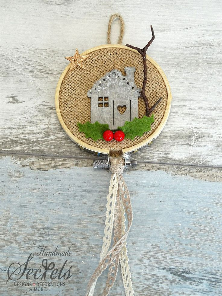 Christmas embroidery hoop Decorative embroidery hoop