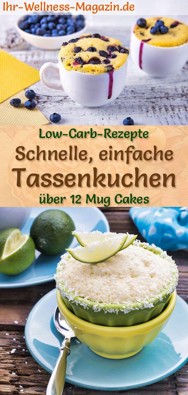 Low-Carb-Tassenkuchen – 15 Rezepte für Mug Cakes