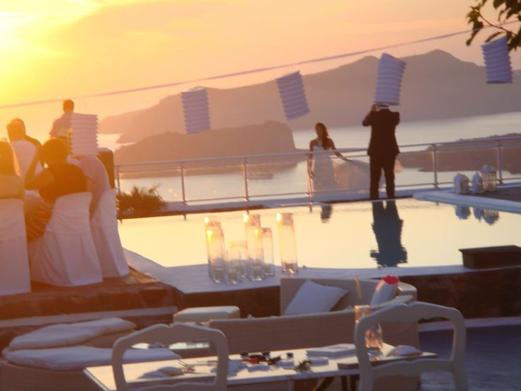 Your wedding by the sublime #sunset at Thermes Villas..
