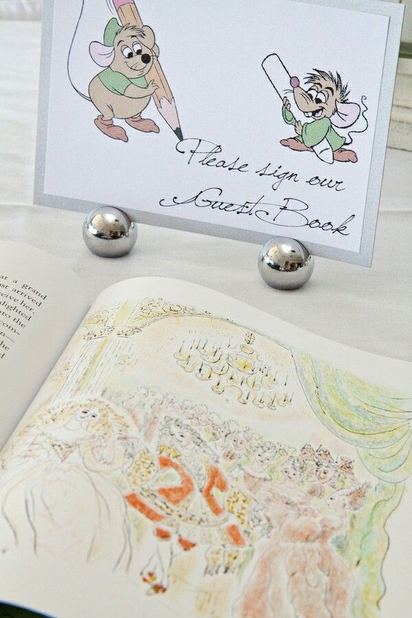 Cinderella Themed Wedding - Guest Book Gus & Jaq