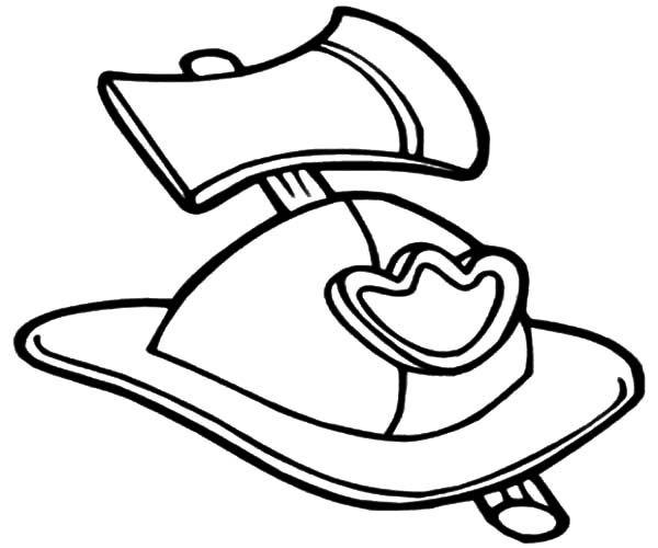 Fire Truck Hat Coloring Page See The Category To Find More