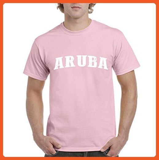 Ugo What to do in Aruba? Travel Time Flag Map Guide Flights Top 10 Things To Do Men's T-Shirt Tee - Cities countries flags shirts (*Partner-Link)