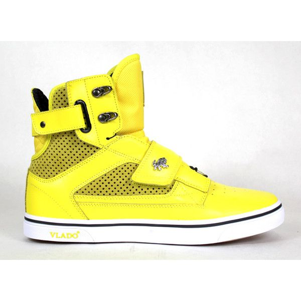 Yellow Atlas Vlados (285 BRL) ❤ liked on Polyvore featuring shoes, sneakers, vlado, tennis shoes, tenny shoes, yellow shoes and yellow tennis shoes