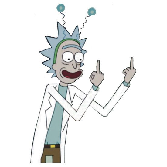 Rick and Morty-- Rick finger