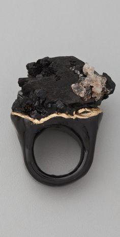 Adina Mills Design Black Tourmaline Ring | SHOPBOP
