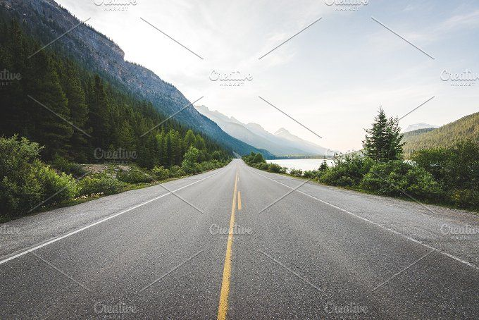 On an Open Road in Canada by Kelly Van de Vliet on @creativemarket