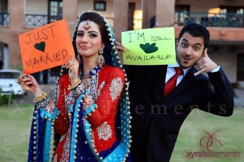 Pakistani muslim couple.  How cute is that.