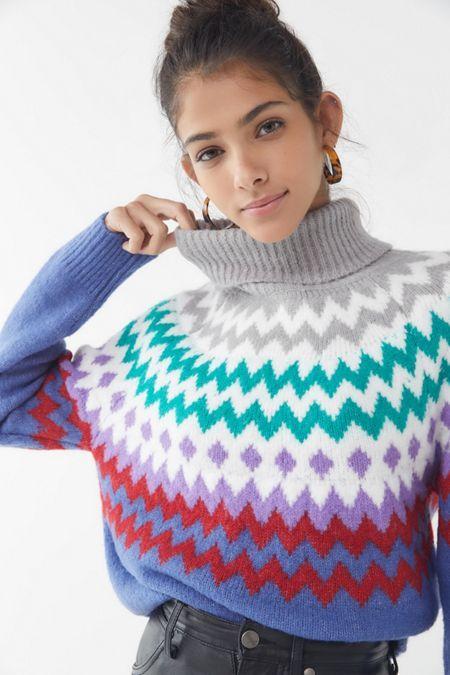 b099d820a0a4 Finley Chevron Turtleneck Sweater