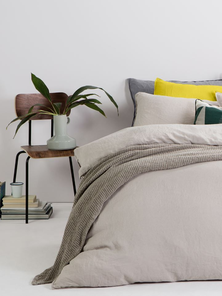 Pale neutral bed linen, MADE.COM Effortless and understated, it's no wonder…