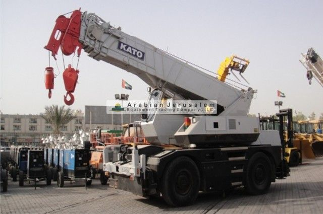 CRANE - ROUGH TERRAIN  Brand: KATO, Model: KR22H, Year: 1998  For More Information get into the following links: http://www.al-quds.com/category.php?id=21 http://www.al-quds.com  #Heavyequipment #Construction_equipment #crane #earthmoving #sharjah