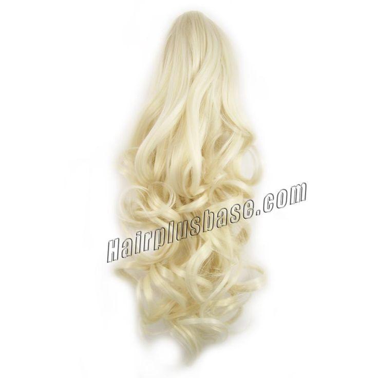 agora 20% de desconto 100% de extensão rabo de cavalo cabelo humano Completa fim garra clipe Curly Remy extensão rabo de cavalo cabelo em puro #60 loiro branco 14 - 32 polegada 75 - 165 g/pc grátis frete por atacado