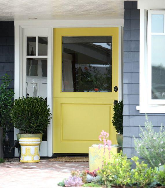 3 sunny yellow dutch doors to brighten up your day decor for Half door ideas