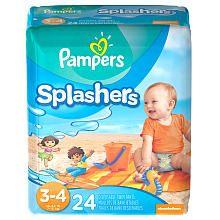 Pampers Splashers Size 3/4 Swim Pants  24 Count