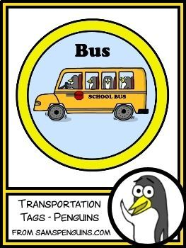 These transportation tags can help keep dismissal time organized. The set includes a clip chart to show how each student will get home. The set also includes smaller tags that can be attached to backpacks or worn on the child's clothing during the first week of school.  #classroomdecor #posters #kindergarten #penguins #teaching