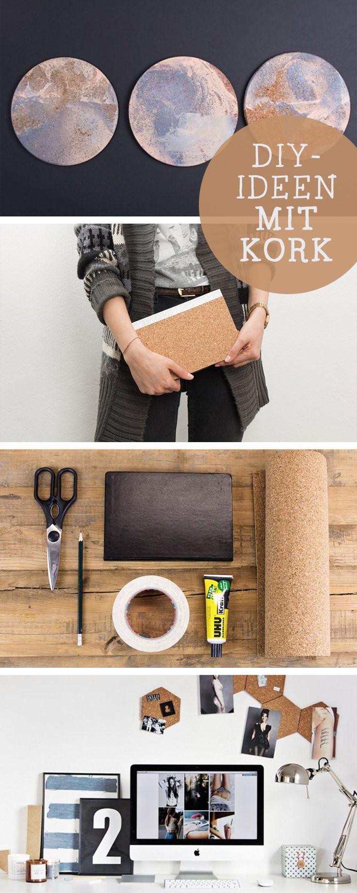 DIY-Anleitungen mit Kork: Inspiration und Ideen für Basteln mit Kork / diy tutorials: use cork for you diy via DaWanda.com