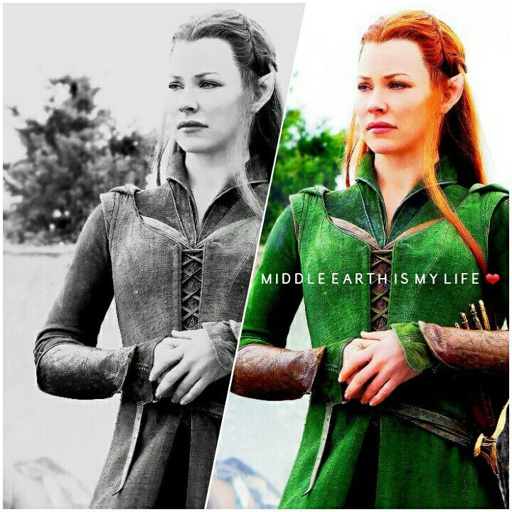 Tauriel is truly a warrior elf, going against her ruler to follow her heart, but unfortunately Eru Iluvatar had other plans for this courageous elf. Losing a true love can devastate her most gave her strength to continue. #tauriel #elf #captain #mirkwood #middleearth #balckandwhite #warrior #beautiful #courageous #thehobbit