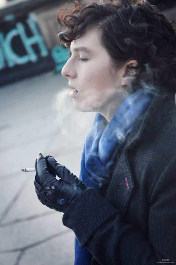 Genderbent Sherlock Cosplay.... screw this as cosplay. I'd wear this everyday for reals.