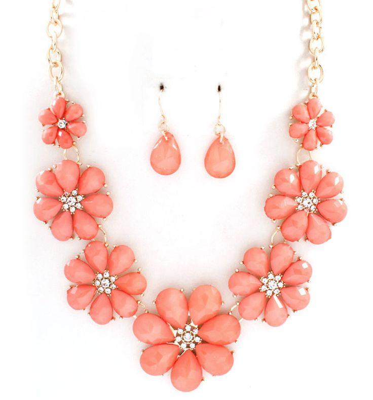 Flora Necklace in Blush on Emma Stine Limited
